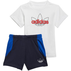 vaatteet Pojat Kokonaisuus adidas Originals GN2268 Sininen