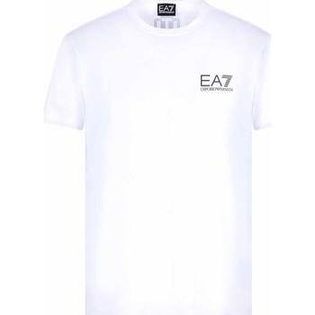vaatteet Miehet Lyhythihainen t-paita Ea7 Emporio Armani 3KPT06 PJ03Z Valkoinen