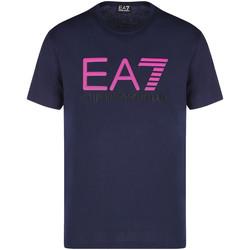 vaatteet Miehet Lyhythihainen t-paita Ea7 Emporio Armani 3KPT78 PJACZ Sininen