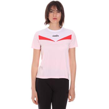 vaatteet Naiset Lyhythihainen t-paita Diadora 102175659 Vaaleanpunainen