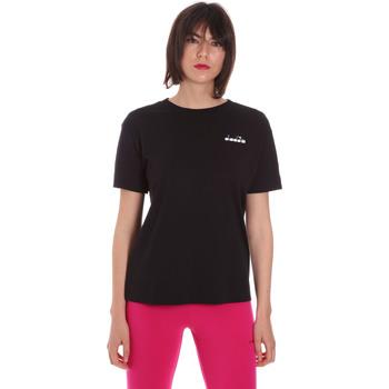 vaatteet Naiset Lyhythihainen t-paita Diadora 102175873 Musta