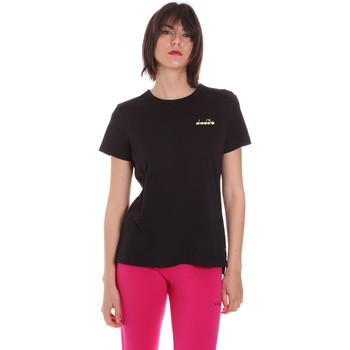 vaatteet Naiset Lyhythihainen t-paita Diadora 102175882 Musta