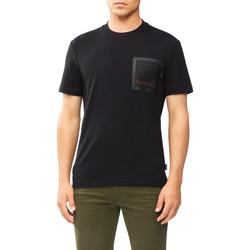 vaatteet Miehet Lyhythihainen t-paita Calvin Klein Jeans K10K106495 Musta
