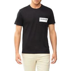 vaatteet Miehet Lyhythihainen t-paita Calvin Klein Jeans K10K106531 Musta
