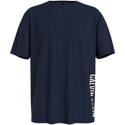 vaatteet Miehet Lyhythihainen t-paita Calvin Klein Jeans KM0KM00604 Sininen