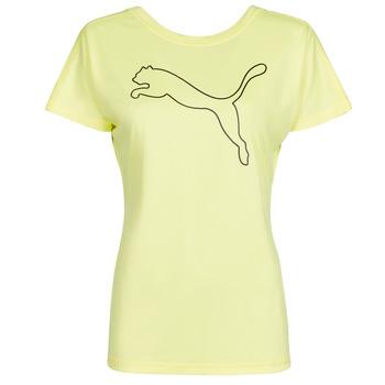 vaatteet Naiset Lyhythihainen t-paita Puma RECYCL JERSY CAT TEE Keltainen