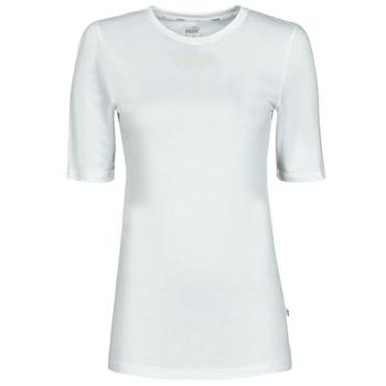 vaatteet Naiset Lyhythihainen t-paita Puma MBASIC TEE Valkoinen