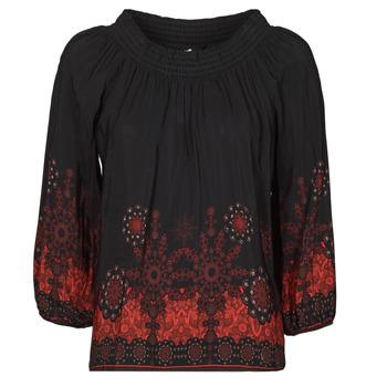 vaatteet Naiset Topit / Puserot Desigual EIRE Musta / Punainen