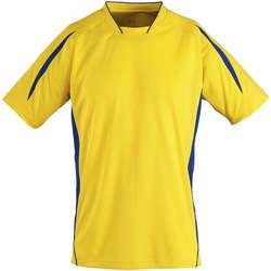 vaatteet Lapset Lyhythihainen t-paita Sols Maracana - CAMISETA NIÑO MANGA CORTA Amarillo