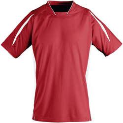 vaatteet Lapset Lyhythihainen t-paita Sols Maracana - CAMISETA NIÑO MANGA CORTA Rojo