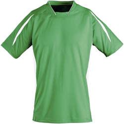 vaatteet Lapset Lyhythihainen t-paita Sols Maracana - CAMISETA NIÑO MANGA CORTA Verde