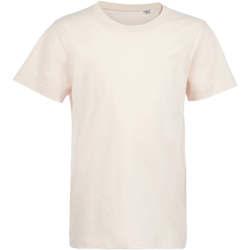 vaatteet Lapset Lyhythihainen t-paita Sols Camiseta de niño con cuello redondo Rosa