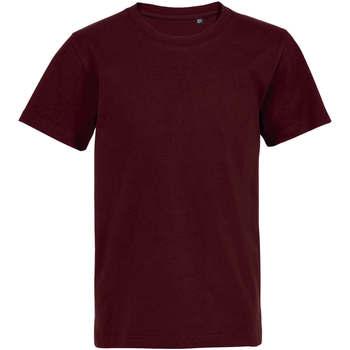 vaatteet Lapset Lyhythihainen t-paita Sols Camiseta de niño con cuello redondo Burdeo