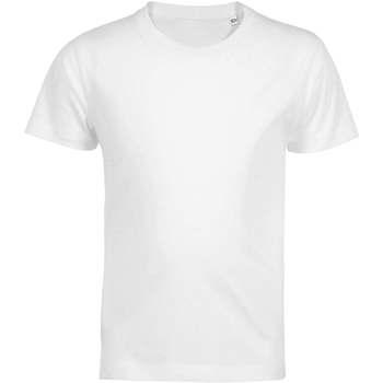 vaatteet Lapset Lyhythihainen t-paita Sols Camiseta de niño con cuello redondo Blanco