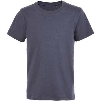 vaatteet Lapset Lyhythihainen t-paita Sols Camiseta de niño con cuello redondo Gris