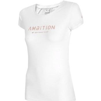vaatteet Naiset Lyhythihainen t-paita 4F TSD033 Valkoiset
