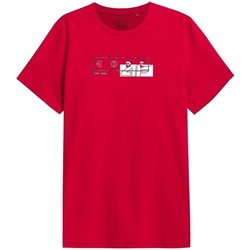 vaatteet Miehet Lyhythihainen t-paita 4F TSM021 Punainen