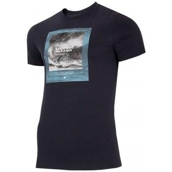 vaatteet Miehet Lyhythihainen t-paita 4F TSM028 Mustat