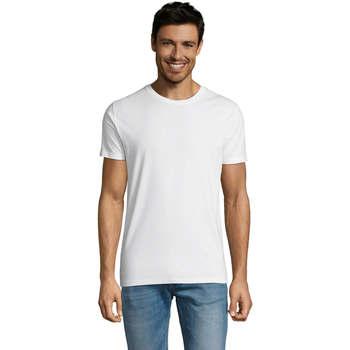 vaatteet Miehet Lyhythihainen t-paita Sols Martin camiseta de hombre Blanco