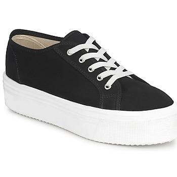 kengät Naiset Matalavartiset tennarit Yurban SUPERTELA Musta