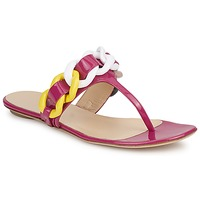 kengät Naiset Varvassandaalit Versus by Versace FSD364C Vaaleanpunainen / Valkoinen / Keltainen