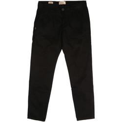 vaatteet Miehet Chino-housut / Porkkanahousut Gaudi 721BU25006 Musta