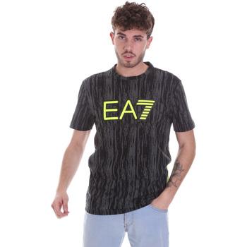 vaatteet Miehet Lyhythihainen t-paita Ea7 Emporio Armani 6HPT04 PJB1Z Musta