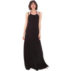 vaatteet Naiset Pitkä mekko Trussardi 56D00519-1T005183 Musta