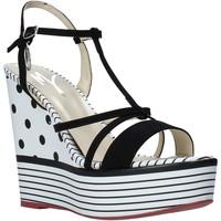 kengät Naiset Sandaalit ja avokkaat Manila Grace S605LP Musta