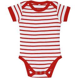 vaatteet Lapset Kokonaisuus Sols Body bebé a rayas Rojo