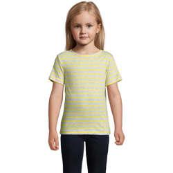 vaatteet Lapset Lyhythihainen t-paita Sols Camiseta niño cuello redondo Gris