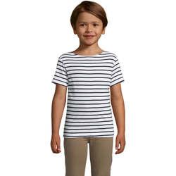 vaatteet Lapset Lyhythihainen t-paita Sols Camiseta niño cuello redondo Azul