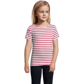 vaatteet Lapset Lyhythihainen t-paita Sols Camiseta niño cuello redondo Rojo