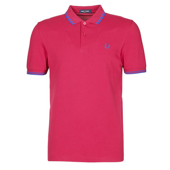vaatteet Miehet Lyhythihainen poolopaita Fred Perry TWIN TIPPED FRED PERRY SHIRT Punainen