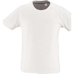 vaatteet Lapset Lyhythihainen t-paita Sols CAMISETA DE MANGA CORTA Blanco