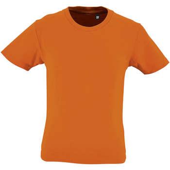 vaatteet Lapset Lyhythihainen t-paita Sols CAMISETA DE MANGA CORTA Naranja