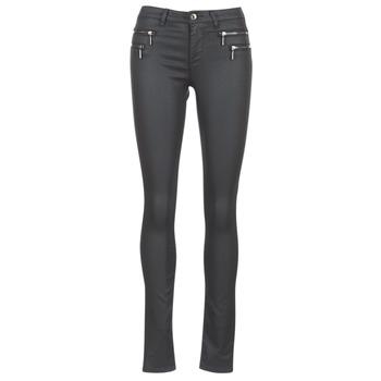 vaatteet Naiset 5-taskuiset housut Only NEW OLIVIA COATED Black