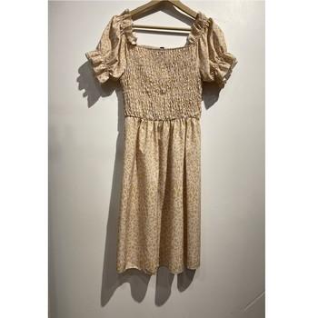 vaatteet Naiset Lyhyt mekko Fashion brands 53176-BEIGE Beige