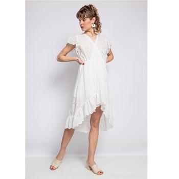 vaatteet Naiset Lyhyt mekko Fashion brands U5233-BLANC Valkoinen