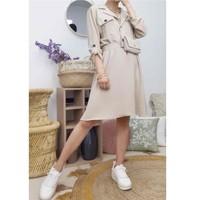 vaatteet Naiset Lyhyt mekko Fashion brands CD2293-BEIGE Beige