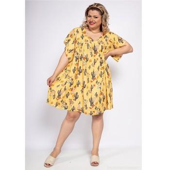 vaatteet Naiset Lyhyt mekko Fashion brands DIABOLE-COLOR-ONE-JAUNE Keltainen
