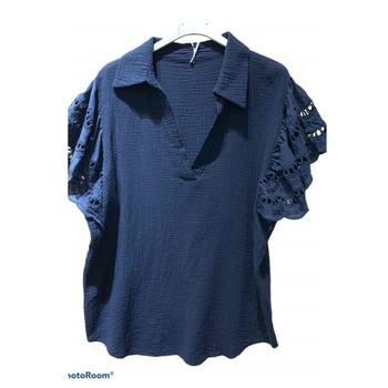 vaatteet Naiset Topit / Puserot Fashion brands 310311-NAVY Laivastonsininen