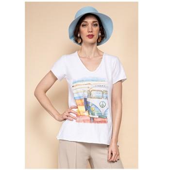 vaatteet Naiset Topit / Puserot Fashion brands 8301-COMBI-SKY-BLUE Sininen