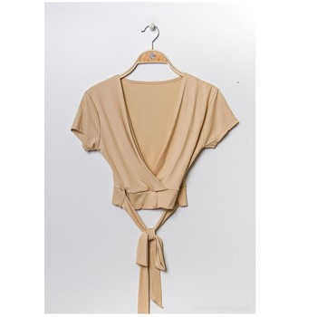 vaatteet Naiset Topit / Puserot Fashion brands FR029T-BEIGE Beige