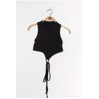 vaatteet Naiset Topit / Puserot Fashion brands FR070-BLACK Musta
