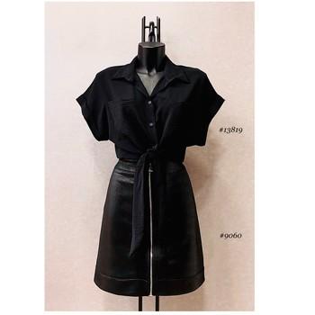 vaatteet Naiset Topit / Puserot Fashion brands ERMD-13819-N-BLACK Musta