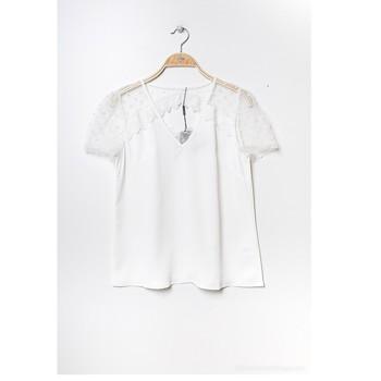 vaatteet Naiset Topit / Puserot Fashion brands K5518-WHITE Valkoinen