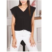 vaatteet Naiset Topit / Puserot Fashion brands F2106-BLACK Musta