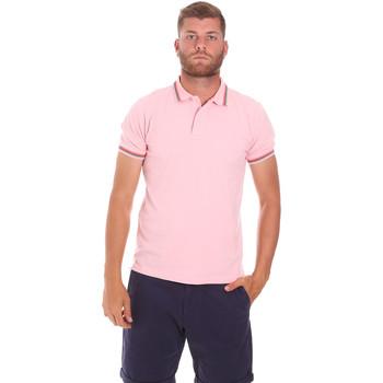 vaatteet Miehet Lyhythihainen poolopaita Sundek M779PLJ6500 Vaaleanpunainen