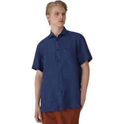 vaatteet Miehet Lyhythihainen paitapusero Trussardi 52C00213-1T002248 Sininen